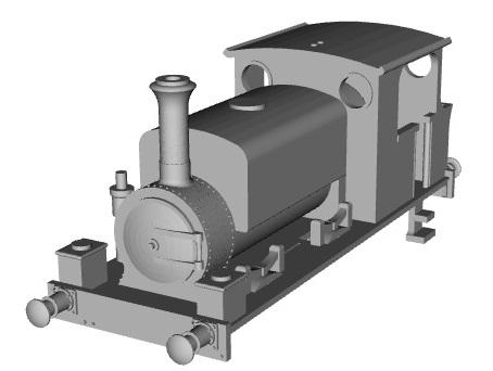 3D printed standard gauge locomotives and rolling stock